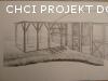 Poptávka: Vypracování projektu na stavbu uzavřeného zahradního domku/kuchyně s pergolou